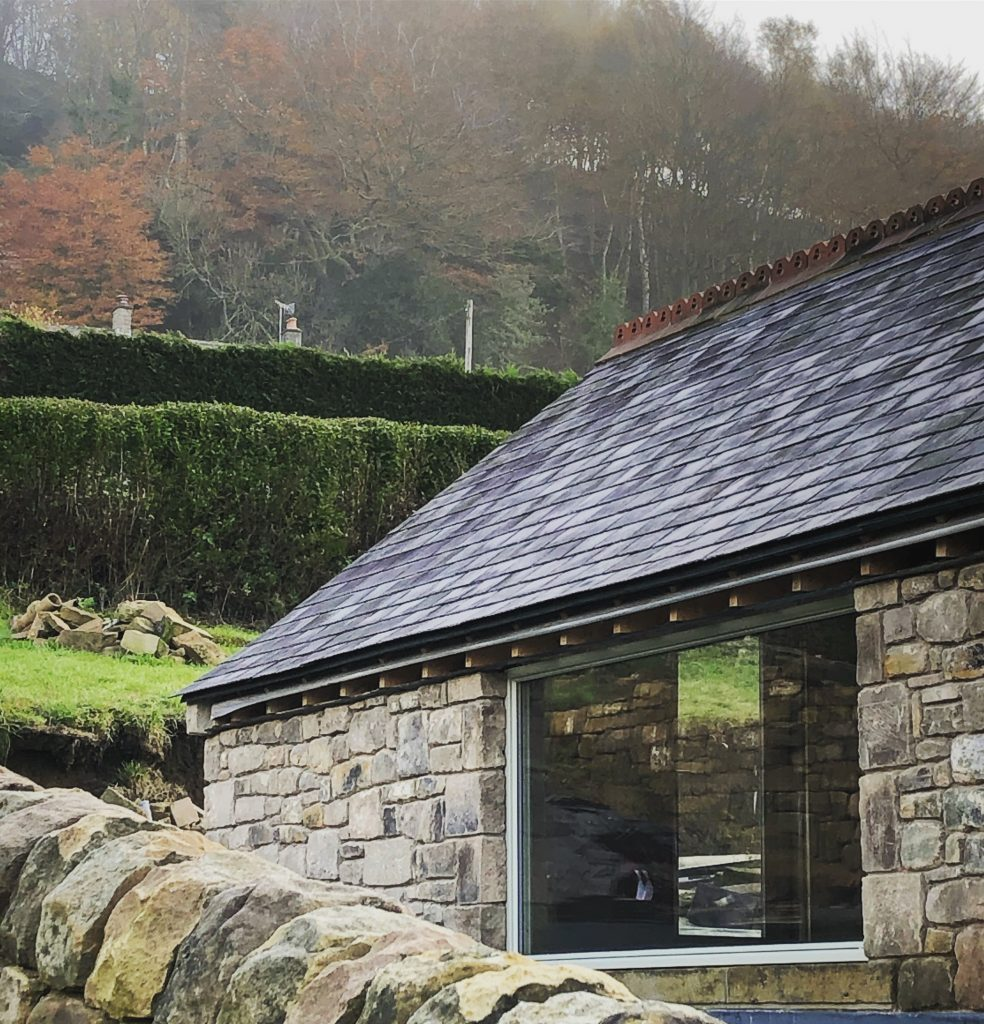 extension, matlock, picture window, stone, stone extension
