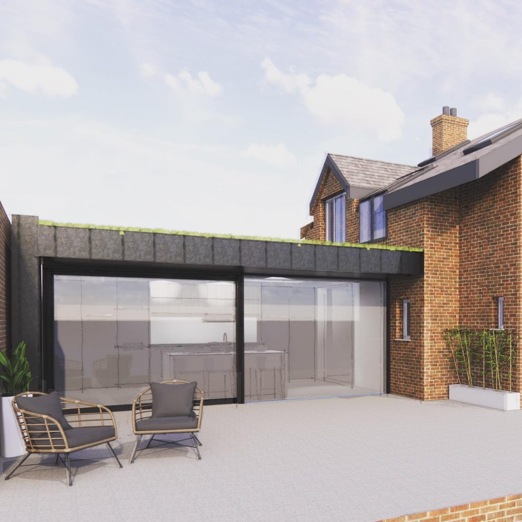 Zinc cladding, extension, remodel, rchitects drawings, architect derbyshire