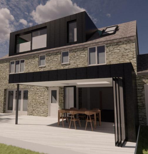 Extension, architect, zinc extension, metal cladding