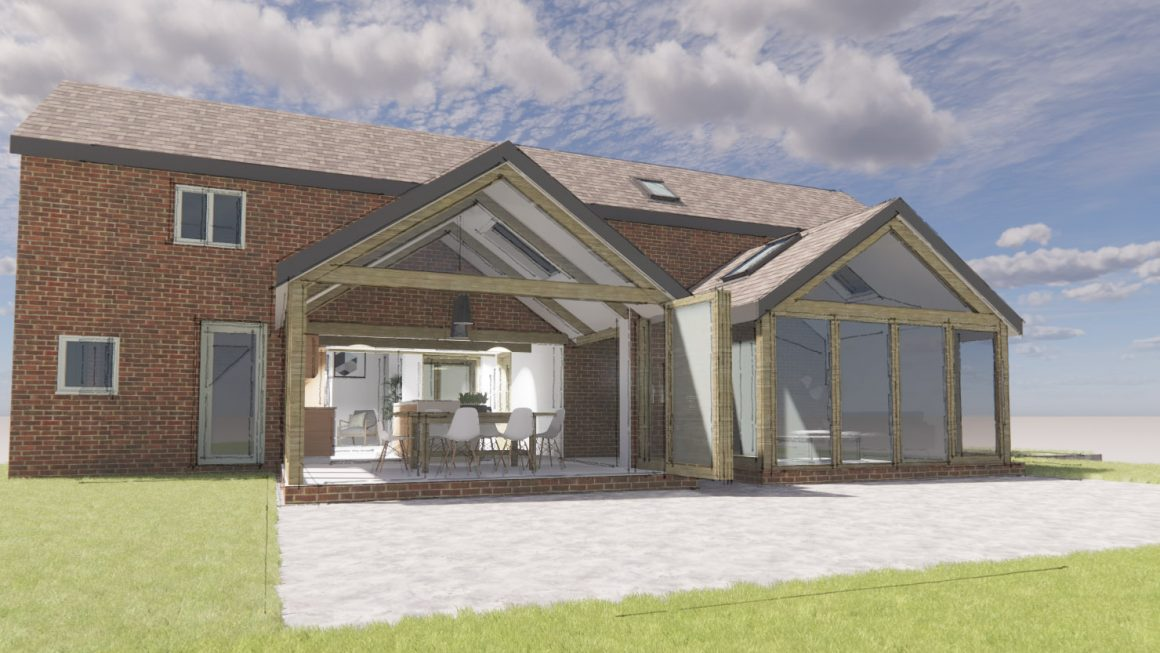 Architect, Derbyshire, Timber frame, extension, barn conversion, barn renovation