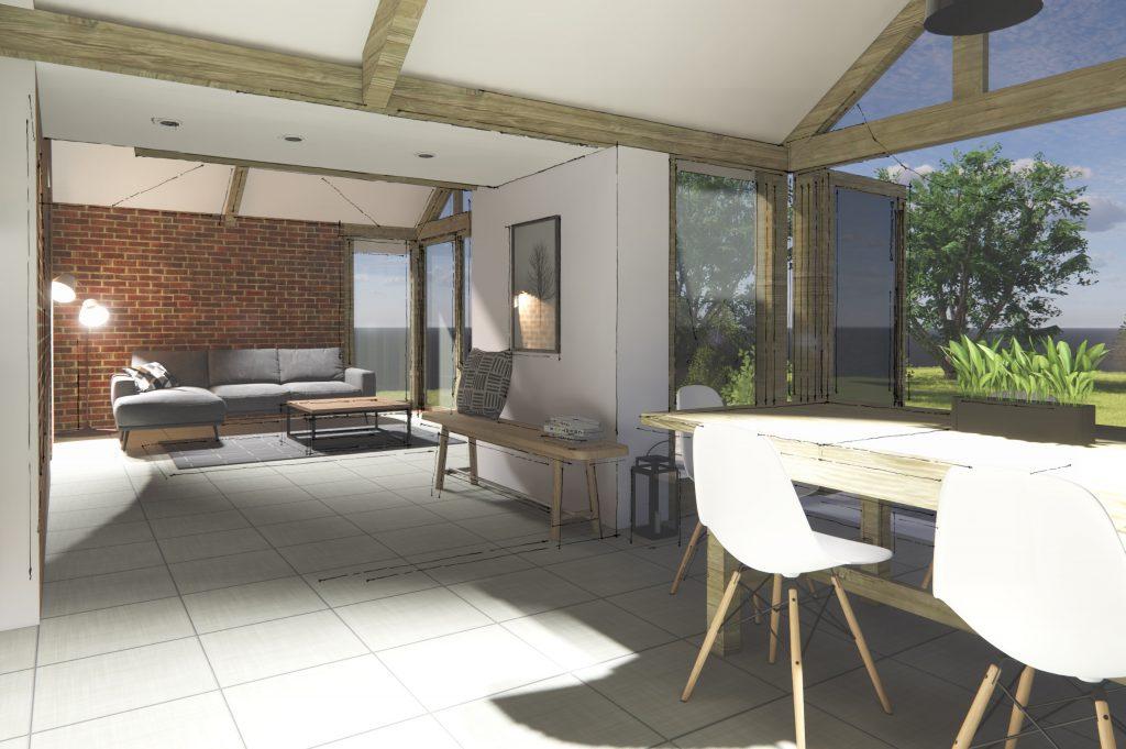 interior, timber frame, architect, interior design, extension