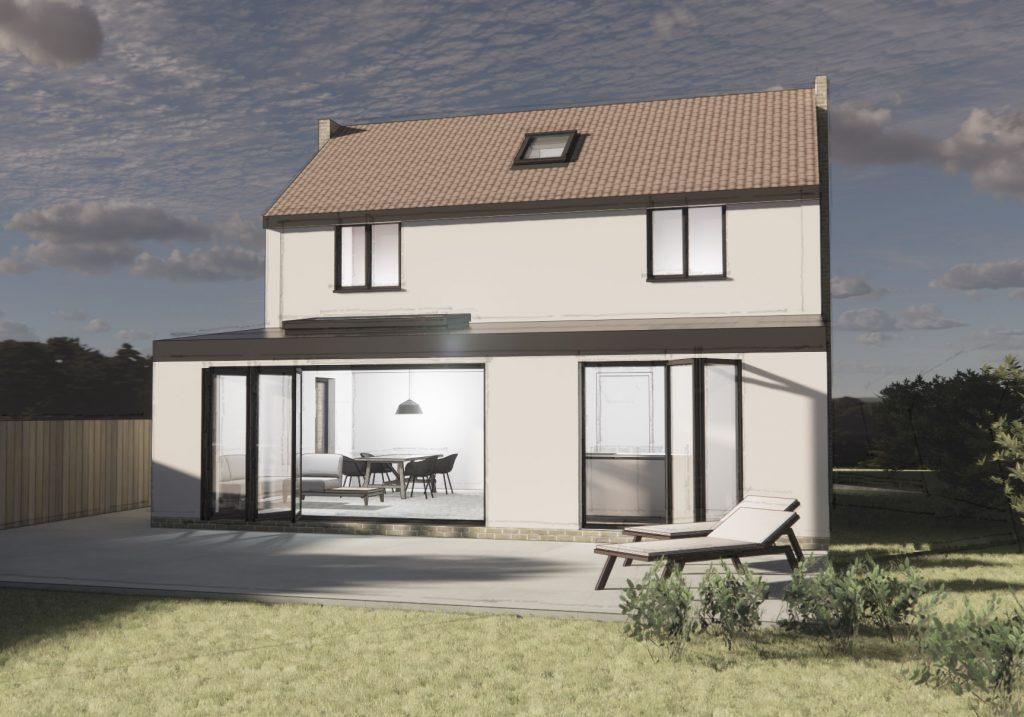 Bungalow extension derbyshire architect Matlock